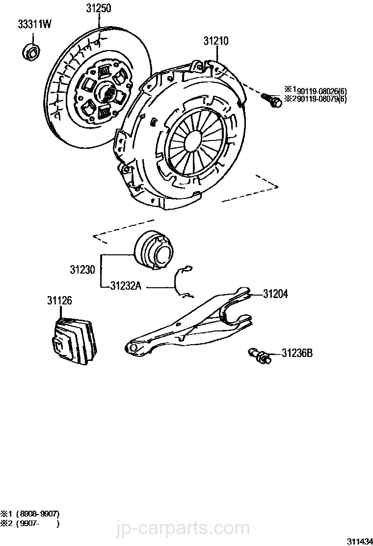 Toyota 31126-26020 Clutch Release Fork Boot