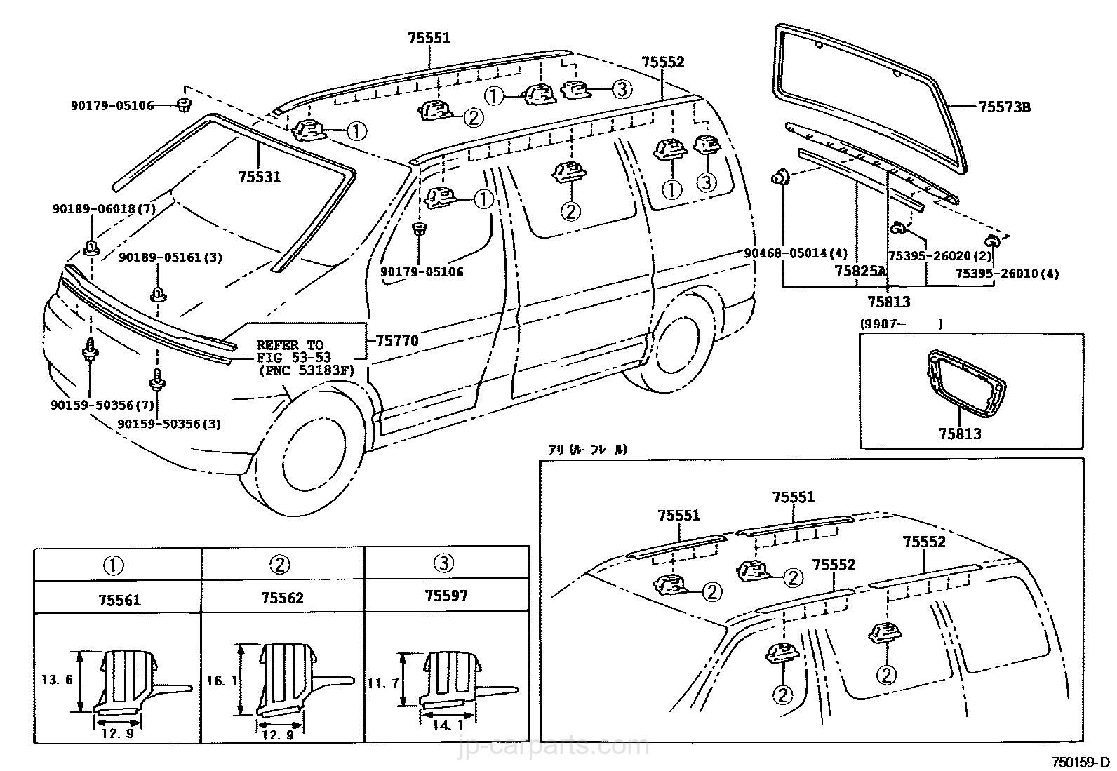 8 seater wagon box wiring diagram Passenger Wagon Seats moulding toyota part list jp carparts 2014 8 seater suv 8 seater wagon